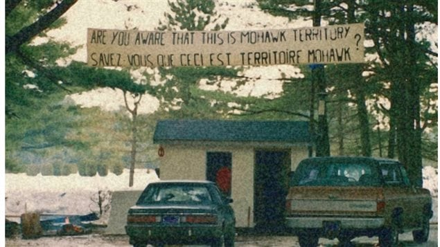 March 10, 1990: A small group of Mohawks drag a fishing shack into a clearing in the pine forest and vow to stay there, after Oka Mayor Jean Ouellette says he'll proceed with a golf-course expansion onto the disputed land.