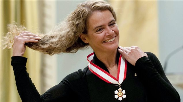 Canadian astronaut Julie Payette adjusts her hair after she was invested into the Order of Canada as an Officer during a ceremony at Rideau Hall in Ottawa, Friday, September 16 2011. Former astronaut Julie Payette will be Canada's next Governor General.Payette will become the 29th person to hold the position, and the fourth female to be the monarch's representative in Canada.