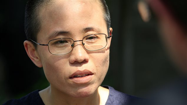 Liu Xia, wife of the late Chinese pro-democracy activist Liu Xiaobo, listens to a question during an interview in Beijing June 24, 2009. Canadian authorities are calling for her release from house arrest.