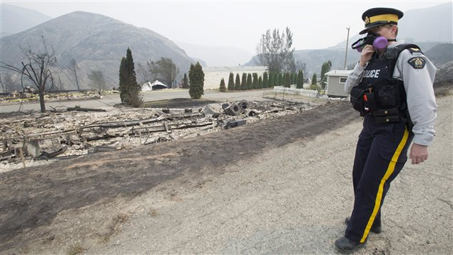 The area of Boston Flats, B.C. is pictured Tuesday, July 11, 2017 after a wildfire ripped through the area earlier in the week.