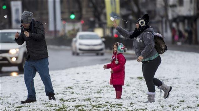No todos se lamentaron por los efectos de la nevada.
