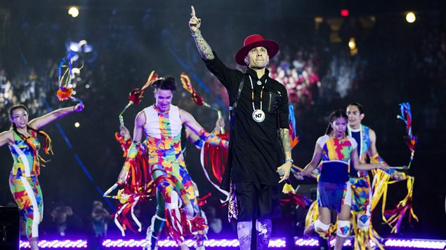 Taboo performs during the opening ceremony of the 2017 North American Indigenous Games, in Toronto on Sunday, July 16, 2017.