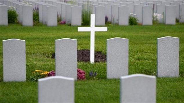 Military grave stones are pictured at a cemetery in Ottawa on Monday, July 17, 2017. The words on each grave marker are easy to read, even those carved decades ago, while the grey stones are all clean, the surrounding grass and flowers are trim and manicured. Such a sight might not be a surprise at the National Military Cemetery in Ottawa, but a new Veterans Affairs audit has found that tens of thousands of other such graves across Canada are in disrepair