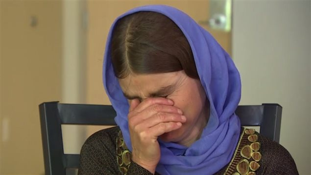 Mixed emotions swept Nofa Zaghla on seeing photos of one of her missing sons.