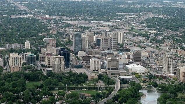 منظر من الجو لمدينة لندن في أونتاريو