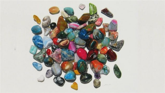 2014 *Stones* coloured pencil on paper. 50cm x 50 cm