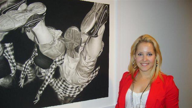 Jessi Babin, 2012 BMO 1st art regional winner Nova Scotia.