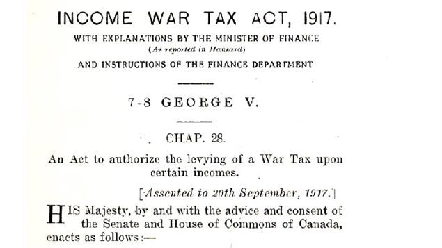 The original tax act of 1917, a temporary tax to finance the war effort, all eleven pages of it.