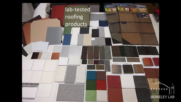 Several samples of roof material were tested.
