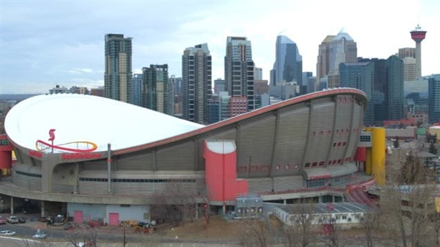 The Scotiabank Saddledome is one of the venues built for Calgary's 1988 Winter Olympics which is still in use.