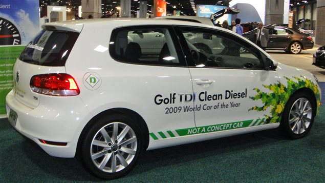 VW TDI at the 2010 Washington Car show. VW was later fond to have rigged emmissions controls to work only when emmissions testing equipment was hooked up. The scandal became known as *dieselgate* or *emmissions-gate*