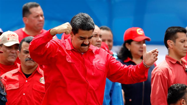 Venezuela's President Nicolas Maduro gestures during the closing campaign ceremony for the upcoming Constituent Assembly election in Caracas, Venezuela, July 27, 2017 .