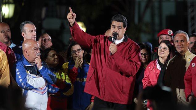 El presidente Nicolás Maduro da un discurso en Caracas tras la votación del 30 de julio.