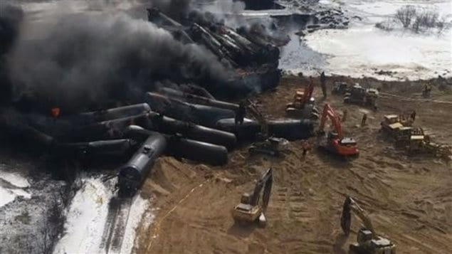 A cracked rail went undetected and sent 39 tank cars off the track.