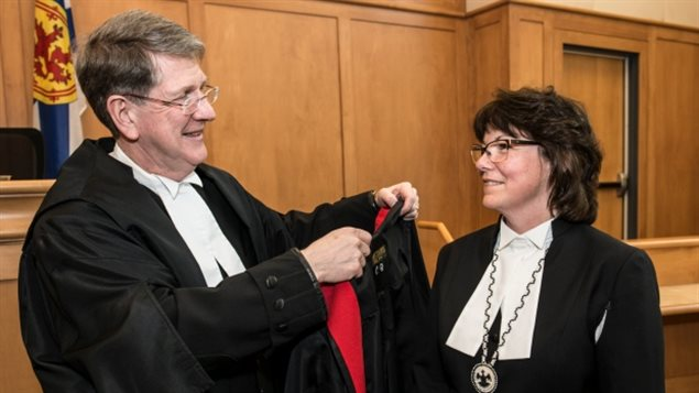 In March 2017, Nova Scotia Chief Justice Michael MacDonald welcomed Catherine Benton, the province's first female judge of the Indigenous Mi'kmaq nation.