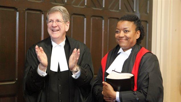 Chief Justice Michael MacDonald welcomed new Judge Rickcola Brinton in May 2017.