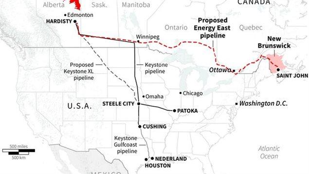 El trazado se extiende desde Alberta y atraviesa buena parte del territorio de Estados Unidos.