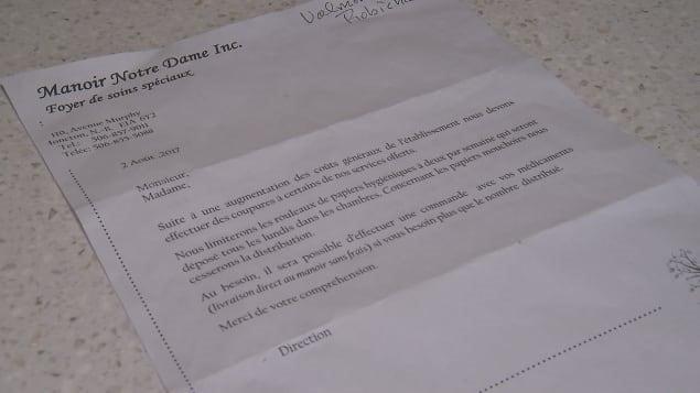 L'administration de la résidence a envoyé une lettre plus tôt cette semaine pour avertir les résidents de ces restrictions. Photo : Radio-Canada