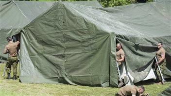 Camp de réfugiés au Québec