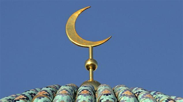 Símbolo en la cúpula de una mezquita