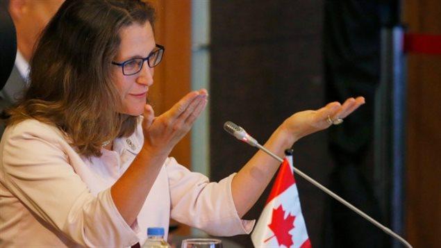 弗里兰德:加拿大会说服贸易伙伴接受加拿大立场