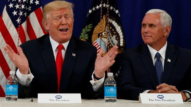 El presidente estadounidense Donald Trump y su vicepresidente, Mike Pence.