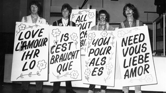 Le titre de la chanson de The Beatles « All you need is love » en plusieurs langues