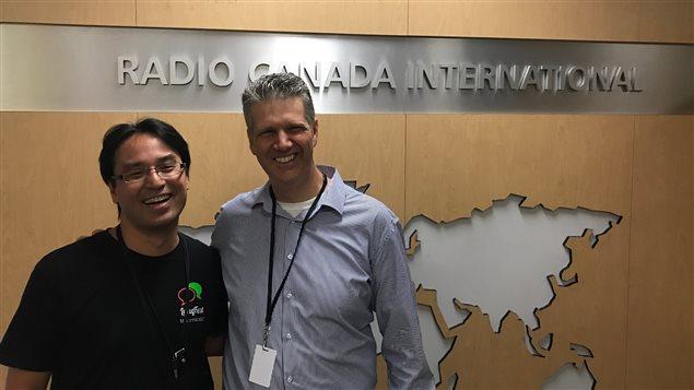 Tetsu Yung y Joey Perugino, co-organizadores del Festival Internacional de Lengua de Montreal, LangFest 2017.s