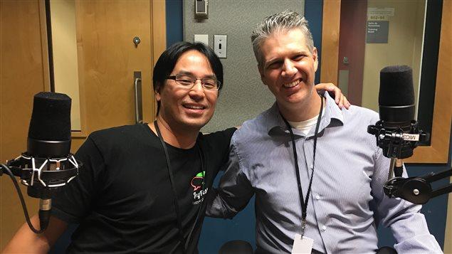 Tetsu Yung y Joey Perugino, co-organizadores del Festival Internacional de Lenguas de Montreal, LangFest 2017.