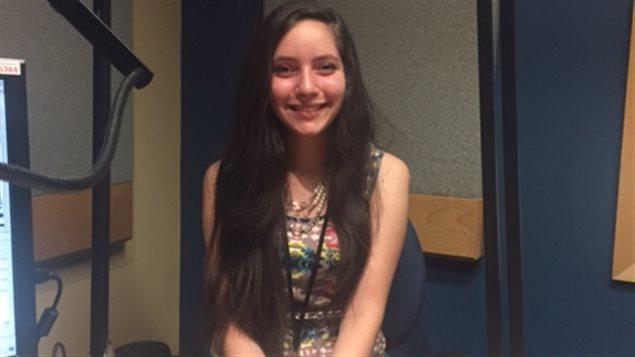 الكنديّة السوريّة ليال الغوري في استديو راديو كندا الدولي
