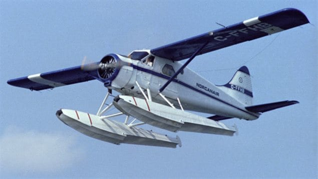 CF-FHB- the first *Beaver* now at the Canadian Aviation and Space Museum, shown here after the museum purchase from Norcanair in 1980 on its flight to the museum.
