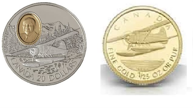 The Royal Canadian mint has created special commemorative coins for the Beaver, a 1991 $20 silver coin with a gold inlay of Philop C Garret,Manager of DeHavilland, and a 2008 Gold coin.