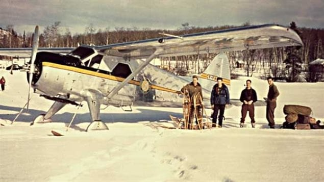The DHC-2 Beaver was the first all-metal STOL plane built in Canada, and many say it still is the best bush plane ever. Shown here on Ootsa Lake British Columbia in the winter of 1951-52 is CF-FHB, indeed the first one built and sold. CF-FHB registry came from the name of one of its designers Frederik Howard Buller.