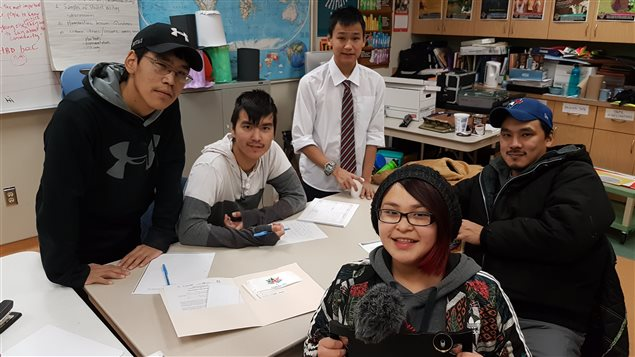 The Arviat video team was made up of students from John Arnalukjuak High School.