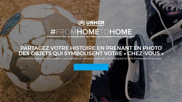 D'une maison à une autre, c'est la traduction libre du nom de l'initiative From Home to Home de l'Agence de Nations Unies pour les réfugiés - Canada.