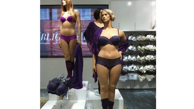A store in Sweden has been using some mannequins that aren't super slim.