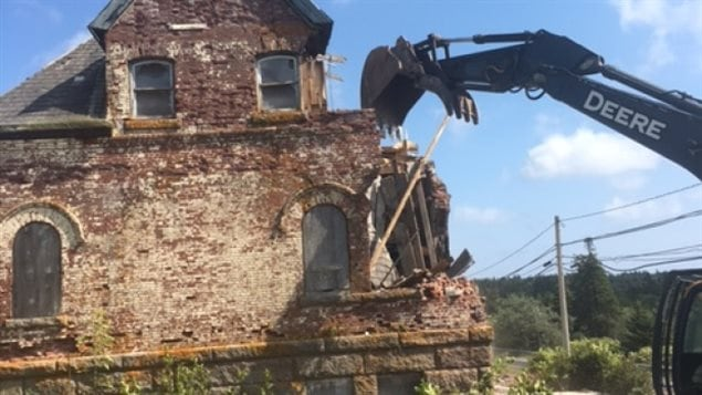 Guysborough County says the historic cable station building was unsafe and had to be demolished. The end came on Tuesday of this week.