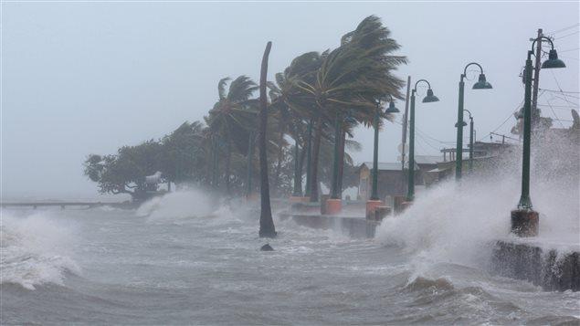 Irma de paso por Fajardo, Puerto Rico, 6 de septiembre del 2017