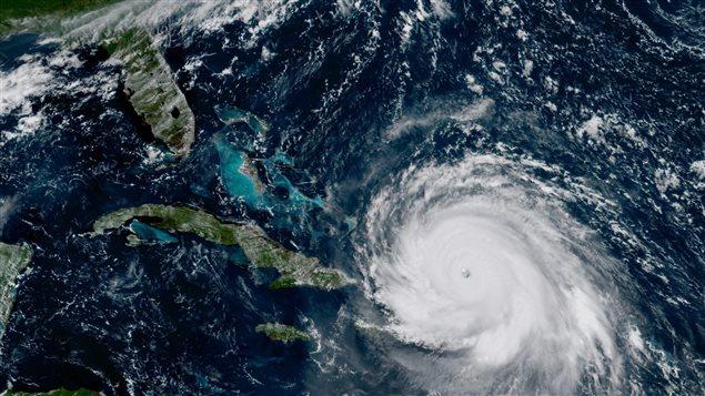 Imagen tomada el 7 de septiembre del huracán Irma