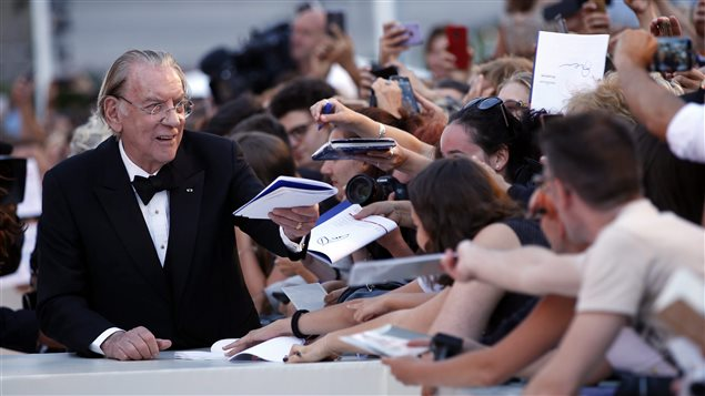 Donald Sutherland met with fans on September 3, 2017at the premiere of the film 'The Leisure Seeker' during the Venice Film Festival.