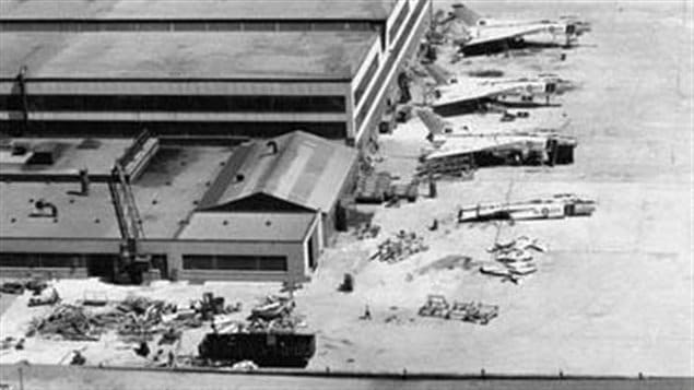 There was huge secrecy over the order to destroy the Arrows and no reporters allowed near the Avro plant. One wily reporter however hired a small plane to fly over the site capturing this incredible photo of the planes in the process of being chopped up. Part of the ongoing theory that one of the planes RL-202 was secretly spirited away is that not all the Arrows are shown being cut up.
