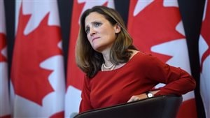 La ministre canadienne des Affaires étrangères, Chrystia Freeland