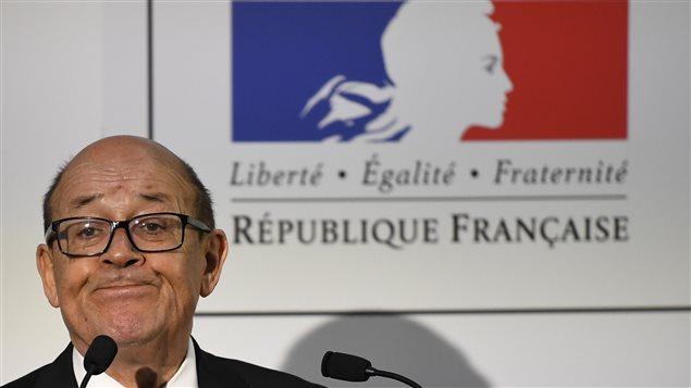 Jean-Yves Le Drian, ministro de Relaciones Exteriores de Francia.