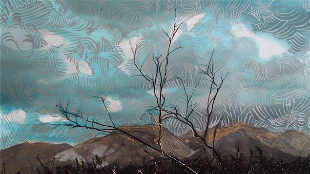 Désert (Desierto) detalle de la obra de Mariza Rosales Argonza.