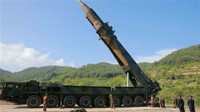 The intercontinental ballistic missile Hwasong-14.