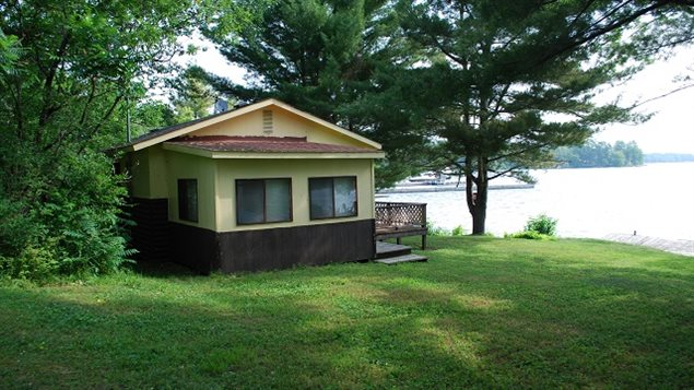 A (usually summer season) vacation property is called a cottage in southern Ontario, camp in northern Ontario, chalet in Quebec, cabin in the west, and bungalow in Cape Breton.