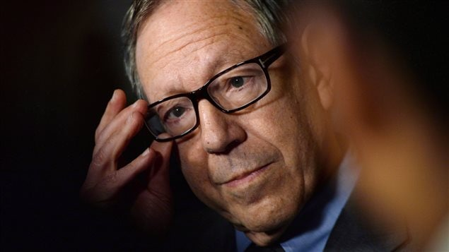 Former Liberal MP and justice minister Irwin Cotler holds a press conference in the foyer of the House of Commons in Ottawa on March 26, 2015.