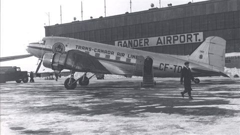 L'aéroport de Gander en 1944. © Memorial University Libraries