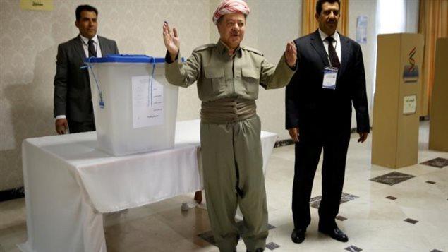 مسعود البرزاني عقب التصويت
