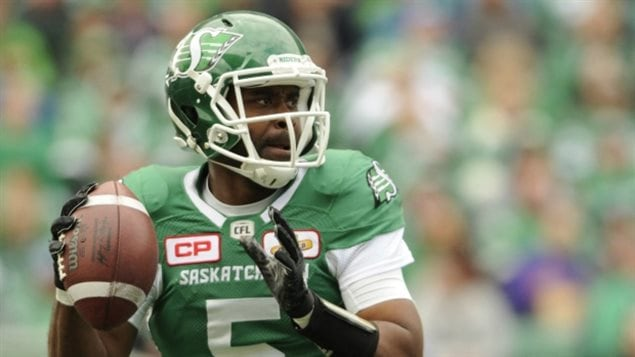 Saskatchewan Roughriders quarterback Kevin Glenn looks for a receiver during first half CFL action against the Calgary Stampeders at Mosaic Stadium in Regina on Sunday, September 24, 2017.